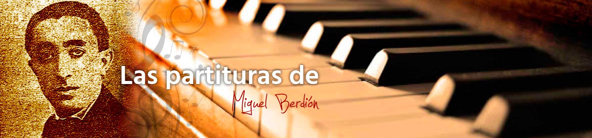 Las partituras de Miguel Berdión